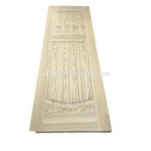 Conception de porte en mélamine / porte de salle de bain décorative / peau porte en plaqué bois