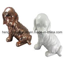 Artisanat en céramique en forme d'animal, Boîte à monnaie en forme de chien pour décoration intérieure