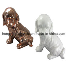Animal Shaped Ceramic Craft, Dog Shape Coin Bank for Home Decor