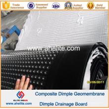 Géomembrane de Dimple de HDPE pour le mur de sous-sol