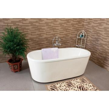 Enamel Cast Iron Bathtub With Steel Shirt