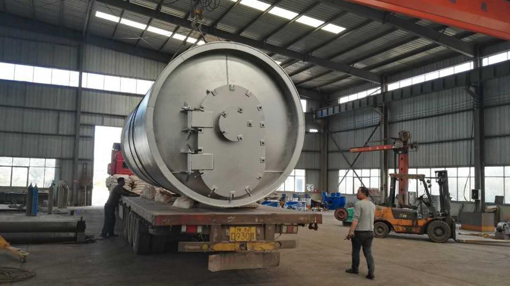 newly automatic discharging waste tyre pyrolysis plant