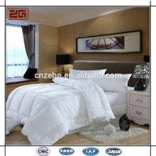 100% poliéster de microfibra de relleno cómoda cama de la reina del hotel edredón