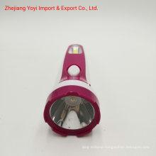 Purple Color 8667 New ABS Plastic COB Side Light 1W Rechargeble Torch Flashlight
