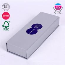 caixa de lápis de papel com cartão de prata novo design