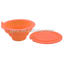 Eco-friendly silicone tea strainer with cover