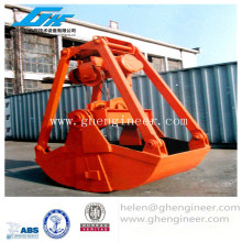 clamshell, mutiple peel motor grab for bulk cargo unload