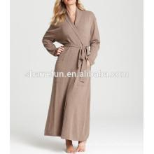 súper suave, de lujo y cálido dormir 100% túnica de cachemira pura