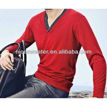 Men's super cool merino wool red sweater