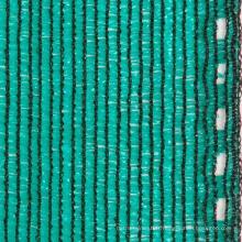 Ombre insecte maille 60% d'ombre net vert foncé 100g / m2 PE emballé dans le lien oeil de carton