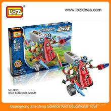 LOZ 3 en 1 Juego de bloques de construcción de robots eléctricos 3023