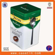Quadratische Kaffee Zinn, Metall Kaffee Zinn, dekorative Kaffee Tin Dosen