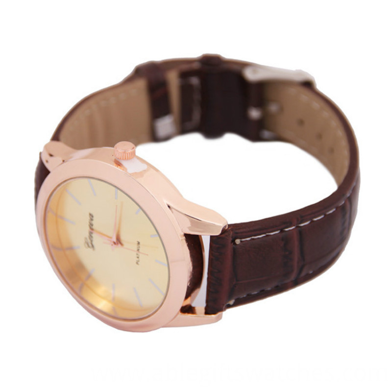geneva leather band watch