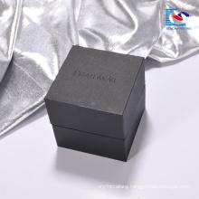 Wholesale printing Luxury black cardboard watch gift packaging paper box
