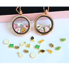 Pole-Chain Stones Crystal Locket Pendant Fashion Necklace