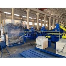 Compacteur hydraulique automatique de tournages en aluminium d'acier de rebut