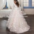 Günstigen Preis Prinzessin Weiß Und Rosa Kleid Tüll Schöne Spitze Blumenmädchen Kleid Für Hochzeit Mit Betterfly Applizierte Cape