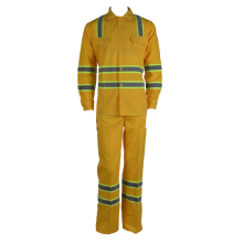 Beige High Visibility Labour Work Suit