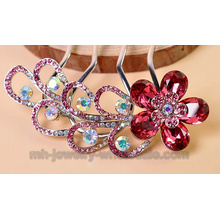 Beautiful Peafowl Shape Charms Hair Combs In Wedding