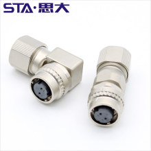 IP67 Encoder Connector 2PIN Metal Straight right angle Plug DDK CM10-SP2S-S Connector