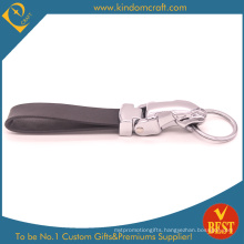 China High Quality Customized Genuine Leather Key Ring or Chain with Personal Logo