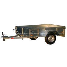 Remolque con caja de 2 ruedas de menos de 750 kg