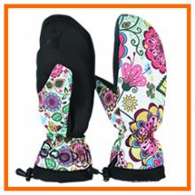 Full Finger Ski Glove with Artwork Print (10212)