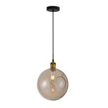 Indoor Glass Ball Pendant Brass Globe Pendant Light