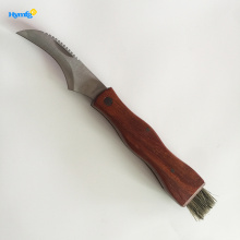 Perfectly  lightweight wooden handle mushroom knife