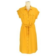 Großhandel Büro Dame tragen benutzerdefinierte Kleidung Frauen Krawatte Färbung Damen Mode Blazer Shirt Midi-Kleid
