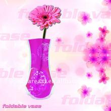 Faltende Plastikblumenvase
