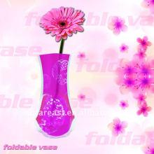 Vaso de flores de plástico dobrável