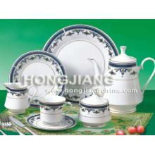 Ensemble de thé 24pcs (0051 # BLEU)
