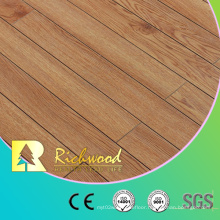 12mm HDF AC4 Hickory V-Grooved Wooden Laminate Flooring