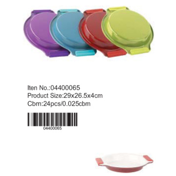 Colorful round cake pan with silicone handle