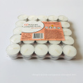 8g 50pcs/box packing mini white tea light candle from China manufacture