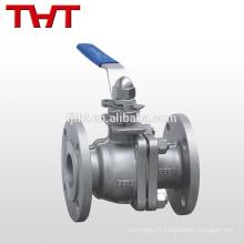 CF8M 4 pouces bride nitrate acide en acier inoxydable robinet à tournant sphérique / robinet