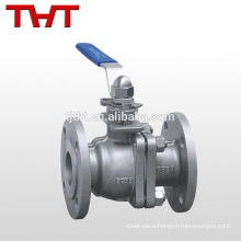 CF8M 4 inch flange nitrate acid stainless steel ball valve/tap valve