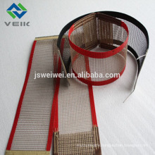 PTFE screen mesh belt with 10*10mm fiberglass fabric coted with ptfe