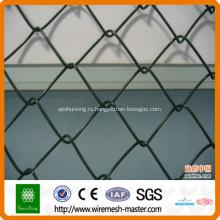 Цепи PVC покрытая загородка звена для спортивной площадки