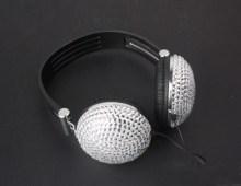 Crystal Rhinestone Noise-Canceling Over-Ear Headphones