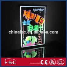 Caja de señalización de luz tablero de escritura fluorescentes plumas de alta calidad led