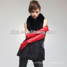 Newest Fashion Polish Leather red long opera Glove For women