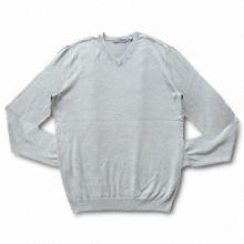 Men's Pullover Sweater with Soft Touching and Comfortable Features, OEM Services are Provided
