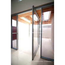 Anodized Aluminium Toughened Glass Pivot Door