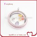 Medalhões de vidro atacado medalhões popular cor-de-rosa na moda joias