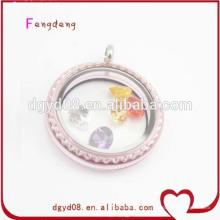 Популярный розовый цвет медальоны оптом стекло медальоны модные ювелирные украшения