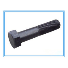 Part Threaded Hex Head Bolt with Black Coating (ASME B18.2.1)