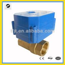 "Válvula eléctrica de puerto completo de 1 ""con 9-24 VCA, 220 VCA e indicador de posición para calentadores de agua solares y lavadoras"