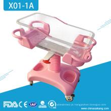 Berço plástico do bebê do ABS médico infantil do hospital X01-1A